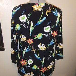 Rafaella Tops - Chunky Floral print blouse